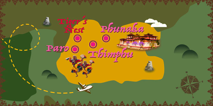 Bhutan - Map