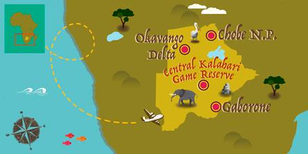 Botswana - Map