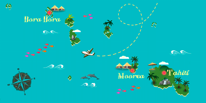 French Polynesia - Map