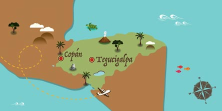 Honduras - Map