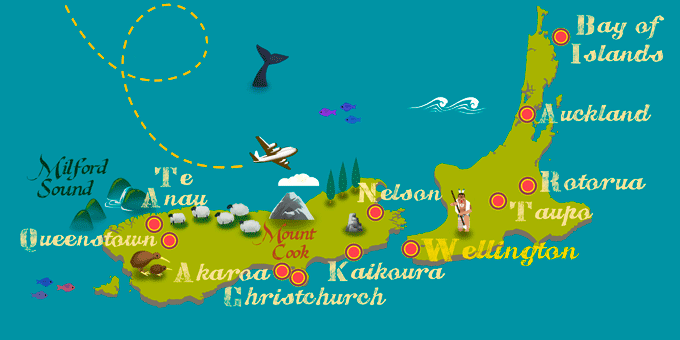 New Zealand - Map