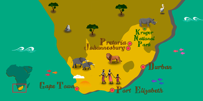 South Africa - Map
