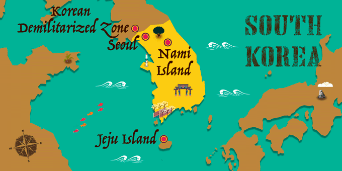 South Korea - Map