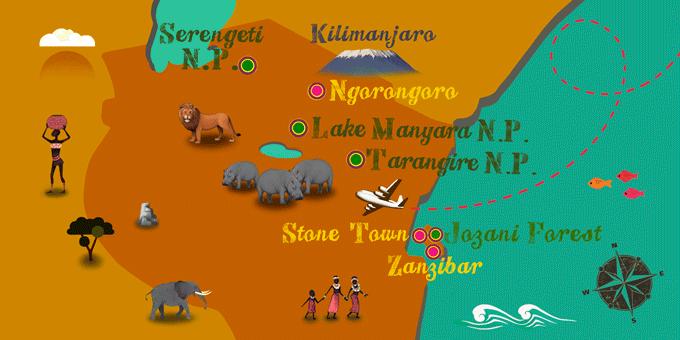 Tanzania - Map