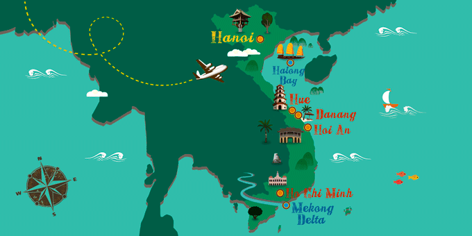 Vietnam - Map